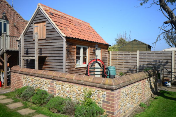 Wooden-shed-brick-wall-build-norfolk-1024x683
